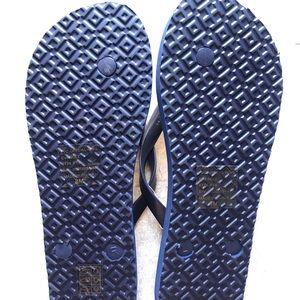 Tory Burch Shoes - {Tory Burch} Floral Flip-flops